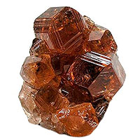 Hessonite mineral specimen